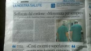 articoli giornale risarcimento salute tutela del malato
