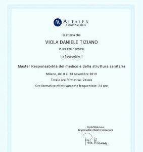 master Daniele Tiziano Viola responsabilità medica malasanità
