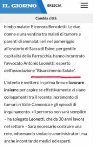 articolo tutela del malato Il Giorno Milano